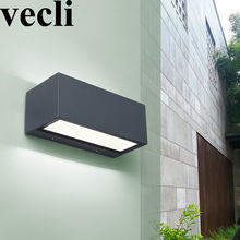 IP54 outdoor hotel balcony lumiere exterieur aluminium waterproof stairway courtyard wall sconces fence rectangle lights