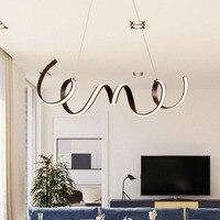 Кофе отделка Современные светодиодные люстры для гостиной столовой Кухня номер акриловые алюминиевый корпус люстры украшения