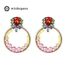 цена на Summer fashion light color fastens to Europe and the United States sell like hot cakes ms pearl earrings