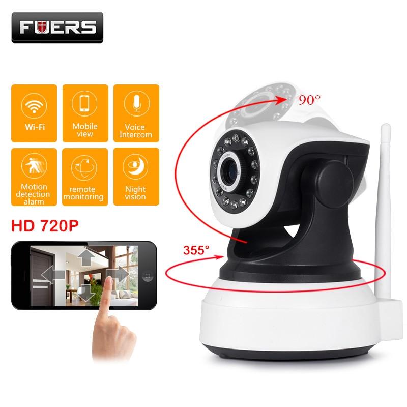 Câmera Sem Fio WI-FI Câmera IP CCTV mini securitya Fuers 720P IR-Cut Night Vision Baby Monitor Audio Record vigilância interior