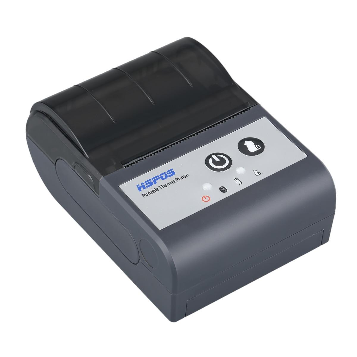Offre spéciale pas cher 2 pouces thermique Mobile 58mm Bluetooth reçu imprimante Support code à barres impression pour entrepôt Express