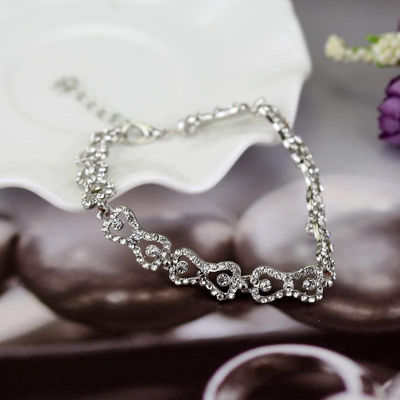 Free Shipping Wholesale The Vampire Diaries Klaus Caroline Forbes Rhinestone Crystal Bow Shine Bracelet Fashion Jewelry Hot Sale