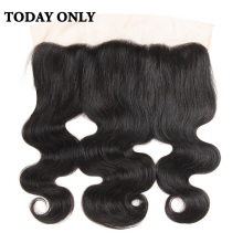 Today Only Brazilian Body Wave Hair 13×4 Ear to Ear Lace Frontal Closure Non-remy Human Hair Natural Color 8″-20″ Free Shipping