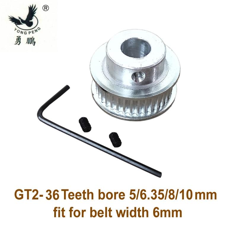 GT2 Conjunto de Correas poleas orificio de 36 dientes 36 T 8 mm Para RepRap Prusa Mendel 3D Impresora