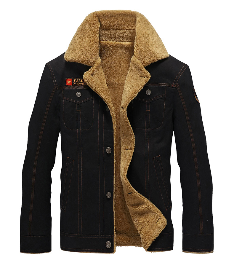HTB15SKmnL2H8KJjy0Fcq6yDlFXav 2019 Winter Bomber Jacket Men Air Force Pilot MA1 Jacket Warm Male fur collar Mens Army Tactical Fleece Jackets Drop Shipping