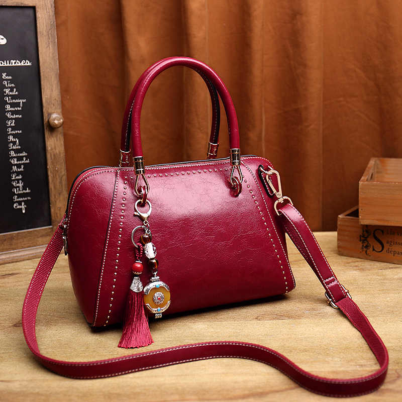 Female Brand Fashion Ladies Shoulder Messenger Bags Genuine Leather Women crossbody Bag for Girl Brand Handbags Bolsas New T55