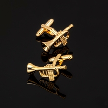 XK423 The Golden Horn Cufflinks high-end males's Cufflinks wholesale and retail