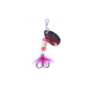 Image 2 - Oloey釣りスピナールアーwobblersクランクベイトジグ輝い金属スパンコールトラウトスプーンフェザーフック鯉