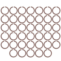 40pcs Ukulele Sound Hole Rosette Inlay Decal Basswood Diameter 73mm Guitar Parts