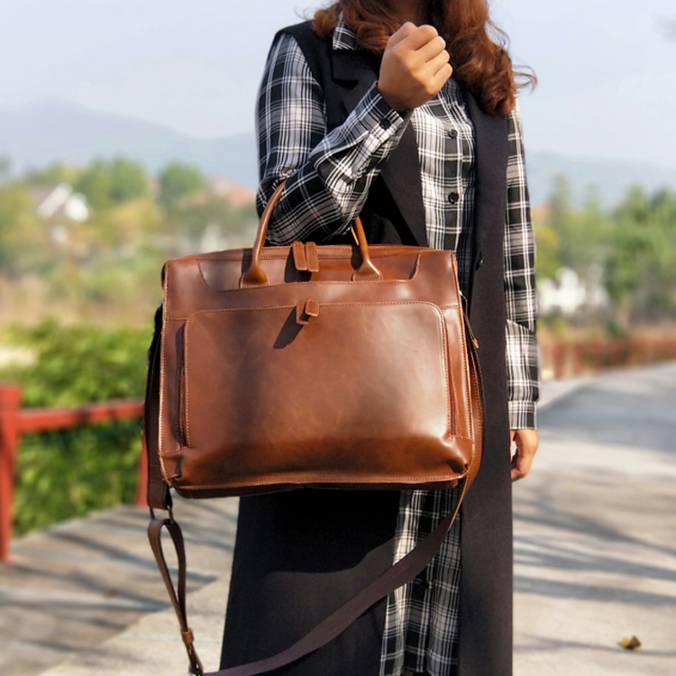 Vintage Women Bag Horizontal Literary Handbag Multifunction 14