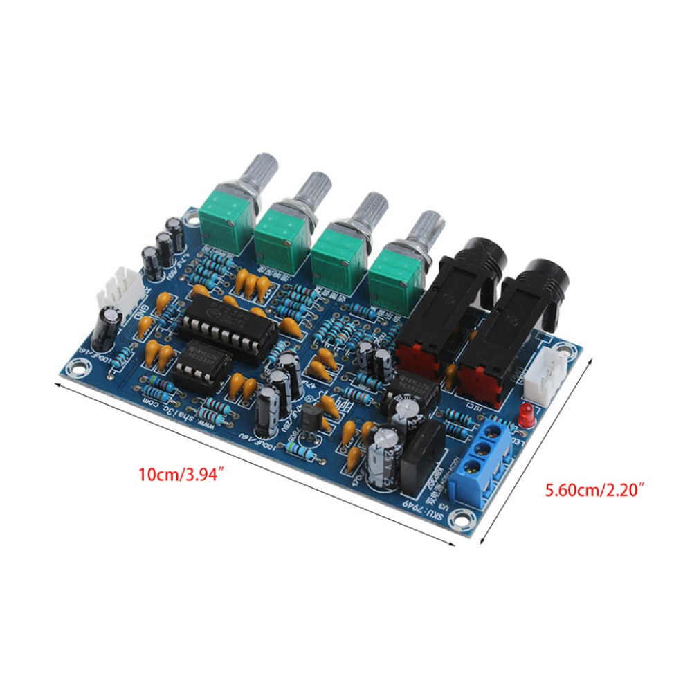 Buy Dual Power Microphone Amplifier Board Sound Amp Irs2092 Class D Circuit Lm1036 Tone Controlled Module Digital Reverb Plate From Reliable Suppliers On No Name Store