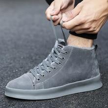 2017 Mới Thời Trang Mùa Đông Giày Nhung Thường Men Tuyết Boots Plush siêu Ấm Da Lộn Leather Boots Men Giày Làm Việc Ngoài Trời S46