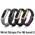 Watch strap For Xiaomi Mi Band 2 Strap with Alloy Frame Silicone Wristband For MiBand 2 Smart Bracelet Xiaomi Mi Band watchband