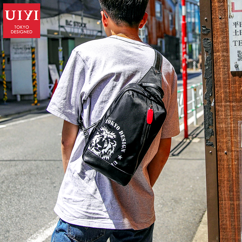 UIYI 2018 New Casual Crossbody Bags for Men Messenger Chest Bag Pack Casual Bag Waterproof Nylon Single Shoulder Strap Pack