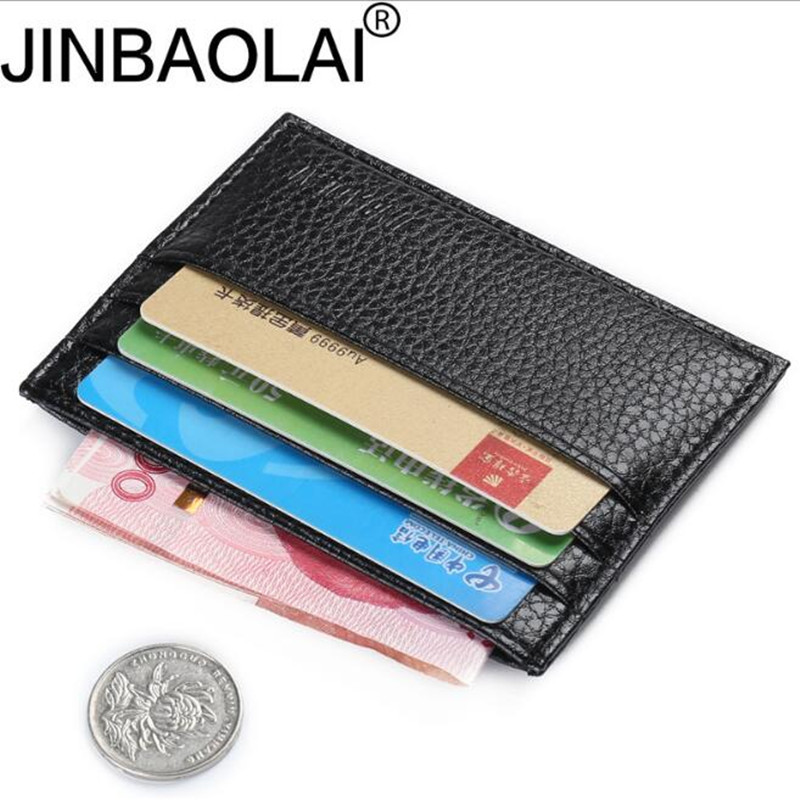 Credit Holder Card Fashion Vintage Retro Texture Mini ID Holders Business Credit Card Holder Leather Slim Bank Case Purse Wallet