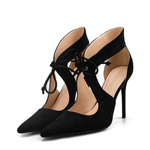 New Arrival 2019 Summer Hot Fashion Thin Heel Women Shoes With Lace Up High Heels Solid Pointed Toe Female Sandals H0049 стоимость