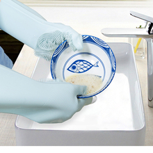 купить Magic Silicone Dish Washing Gloves Kitchen Accessories  Glove Household Tools for Cleaning Car Pet Brush Dish Washing Gloves дешево