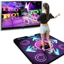 Нескользящий танцевальный коврик с датчиком движения, беспроводные игровые коврики с точной печатью ног, фитнес-коврики для ПК, ТВ, USB танцевальный коврик