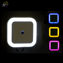 Led-Night-Light Corridor-Lamp Square Bedroom Mini Wireless-Sensor Eu-Us-Plug for Baby