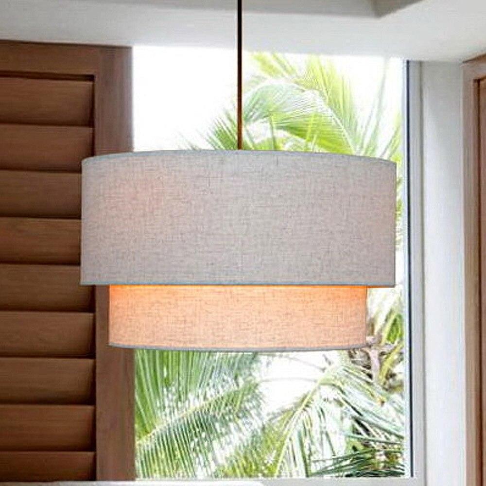 Elegante weiße kurze art moderne beleuchtung tuch schatten pendelleuchte esszimmerstudiewohnzimmer lampe decor freies verschif