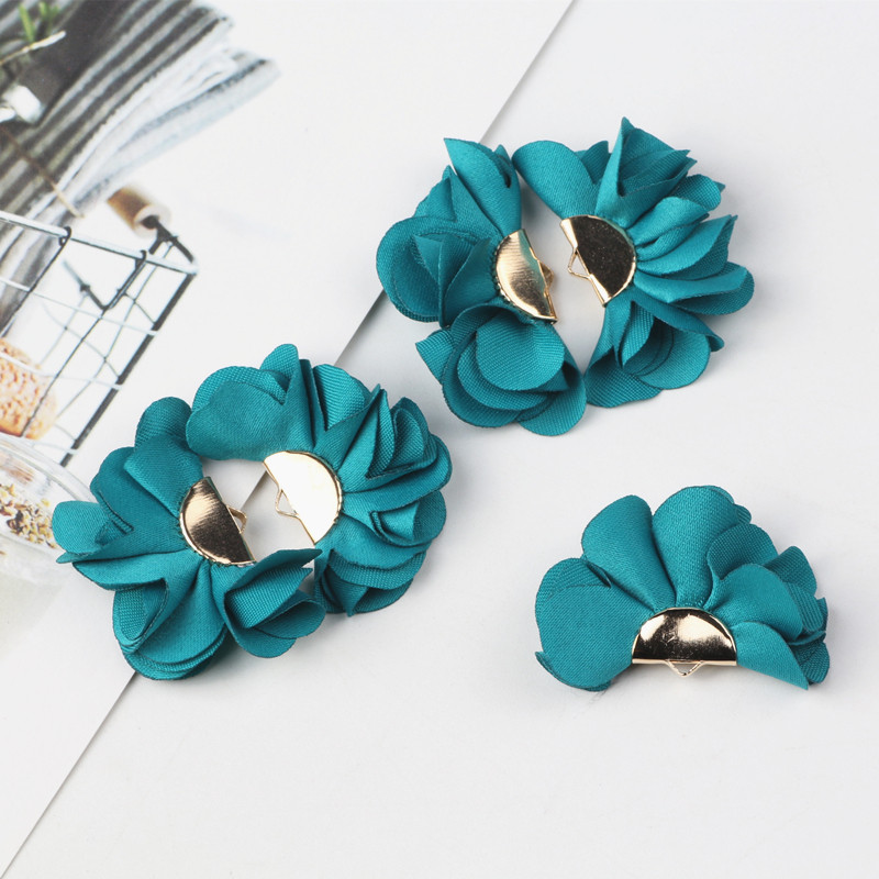 10pcs Pick Colors Tassel Findings Flower Silk Polyester Charms Pendant Drop Earring Tassels For Jewelry DIY Craft Making