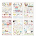 1 Pack Kawaii Diary Decoration Scrapbooking Stickers Flakes Transparent PVC Stationery Planner Diary Stickers Pink Post It Decal