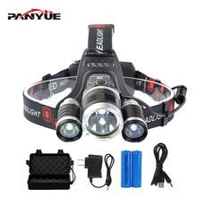 PANYUE RJ3000 High Power T6+2R2 LED 3000Lm Headlight Headlamp Head Lamp Light Flashlight 18650 Torch