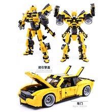цена GUDI upgrade Bumble Bee Starwars Creator Building Blocks transformer Robot Voltron Car Truck kids Educational Toys For Children