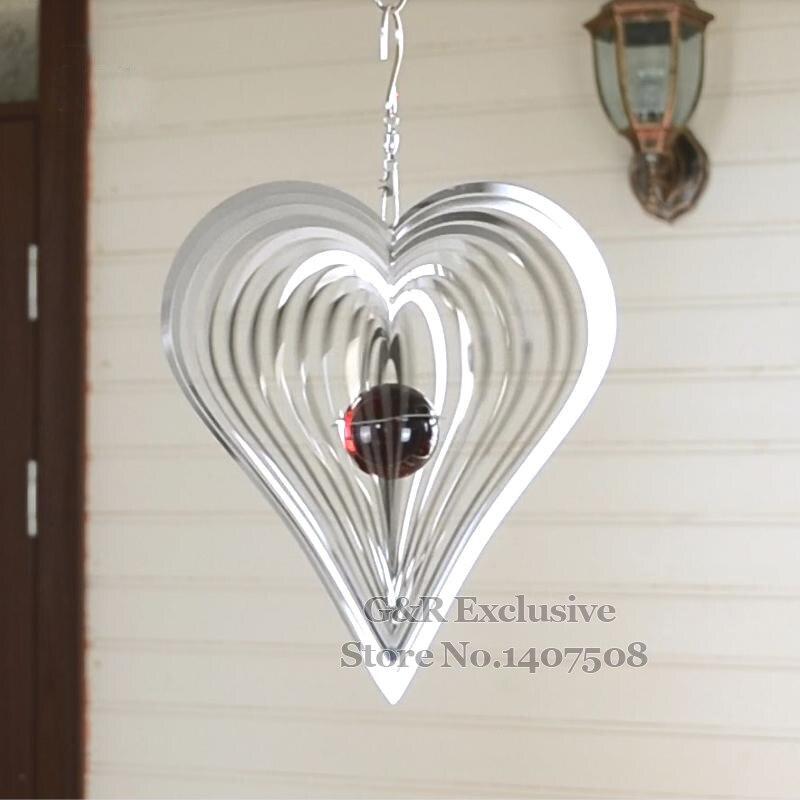 Metal Wind Spinner Home Decor Wind Chimes/ Bells Garden Decoration Heart  Shape 3D Ornaments Outdoor/ Indoor Hangings Sculpture On Aliexpress.com |  Alibaba ...