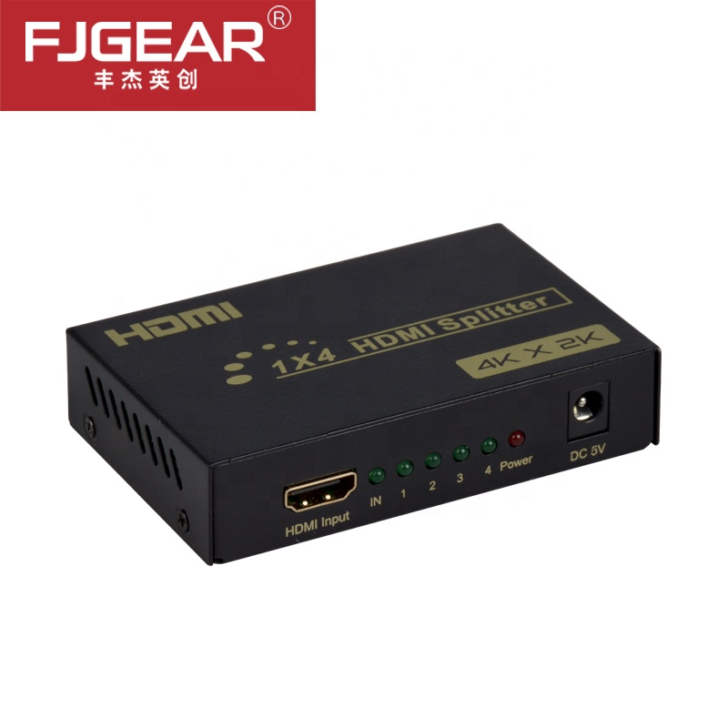HDMI Splitter 1 In 4 Out HDMI Splitter Amplifier HDCP 1080P 4K Dual Display For HDTV DVD PS3 Xbox