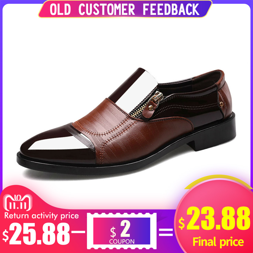 BIMUDUIYU Fashion Oxford Business Men Shoes Soft Breathable Men Formal Shoes Pointed Toe Luxury brand PU Leather Oxford Shoes oxford borboniqua oxford