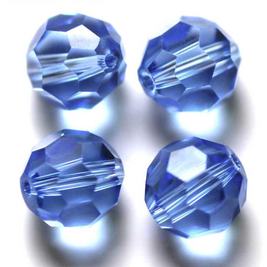 StreBelle Bead paars fluweel kristal Kralen Mode DIY Sieraden 8mm 100st Glazen kraal Ronde vorm Voetbal Stijl Glazen kraal