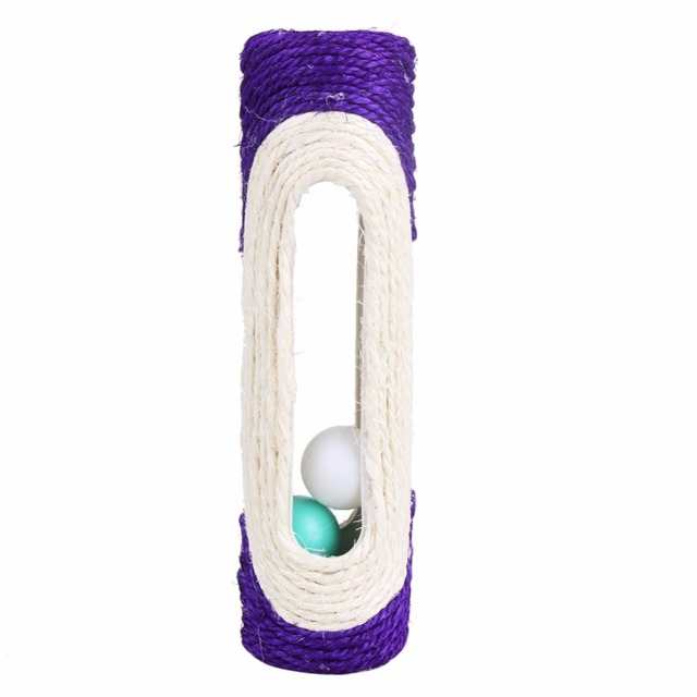 Interactive Scratching Post with Colorful Balls