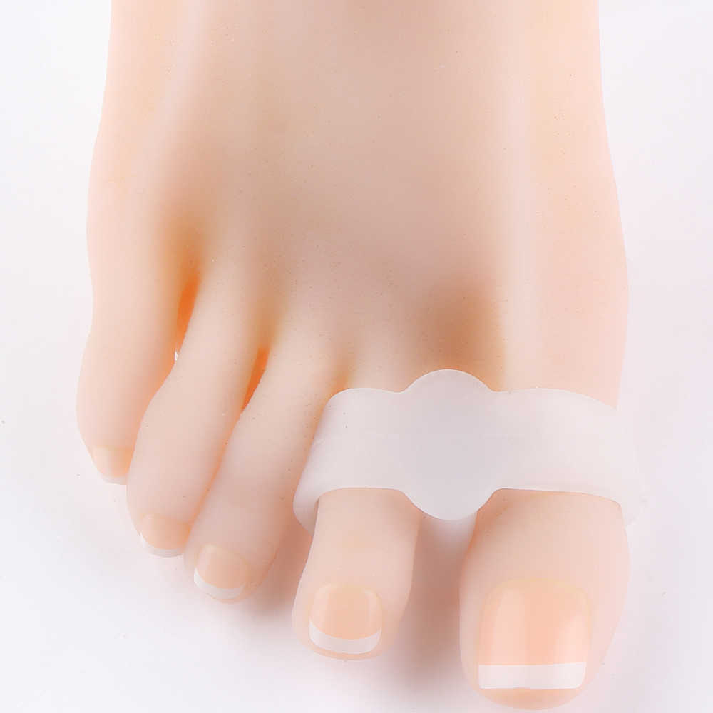 1 pair Foot Care Silicone Pinkie Thumb Valgus Finger Corrector Bunion Little Toe Separator Remove Corns Feet Remove Calluses