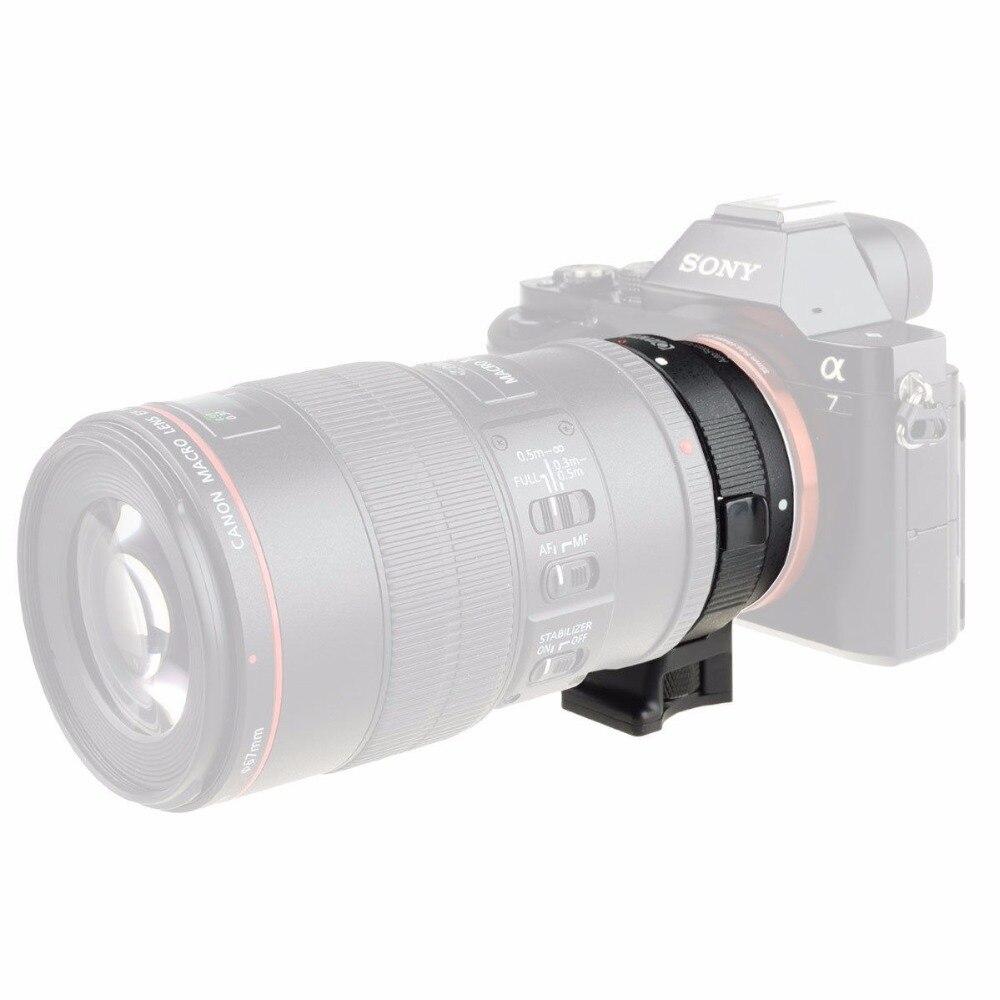 Adaptador de montaje de lente Auto Focus EF-NEX para Sony Canon EF EF-S lente a E-Mount NEX A7 A7R A7s NEX-7 NEX-6 5 completa - 6