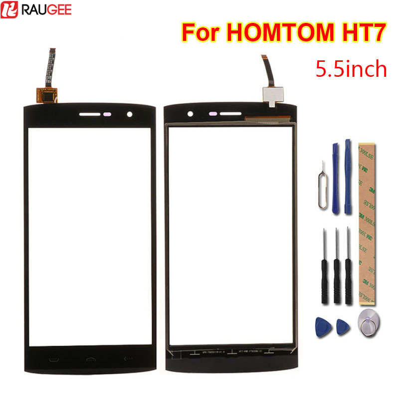 For HOMTOM HT7 Touch Screen tested good 100% New Digitizer Glass Panel Replacement For HOMTOM HT7 Phone 5.5 Inch