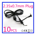 10PCS  2.35*0.7mm / 2.35x0.7mm DC Power Charger Plug Cable Connector for Asus EEE PC Netbook adapter Free shipping