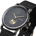 Top brand ultrathin quartz watches men and women simple neutral fashion 3ATM watch big dial waterproof leather men watch