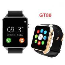 Gt88 smart watch inteligente relogios schrittzähler herzfrequenz sim tf karte bluetooth smartwatch für apple ios android pk gt08 dz09