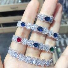 GODKI, роскошный цветок, Саудовская Аравия, браслет, серебряное кольцо, набор ювелирных изделий для женщин, свадебные, Обручальные, brincos para as mulheres