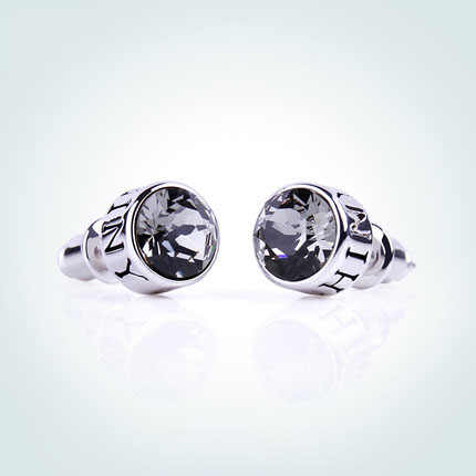 9b487c294 ... Warme Farben 925 Sterling Silver Men Earrings Fine Jewelry Unisex  Crystal From Swarovski Round Stud Earrings ...