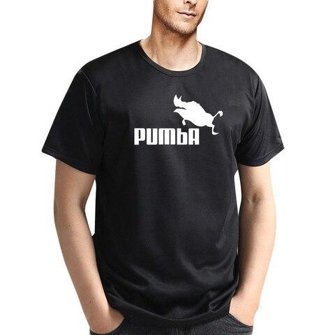 Quick dry fitness t shirts man Pumba summer t shirt short sleeve man tops tees male costume t-shirt cool breathable Tees Karachi