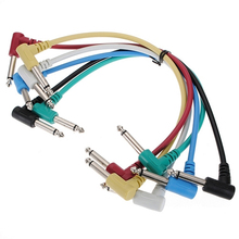 48pcs 1/4″ to 1/4″ Bass Guitar Effects Pedal Audio Patch AMP TS Cable Cord