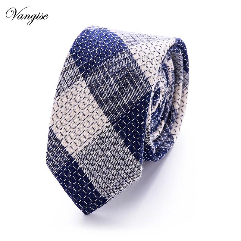 New Plaid Striped Cotton Slim Tie Fashion Design New 6 Cm Ties For Men Wedding Necktie Paisley Corbatas Party Gravatas Neck Tie