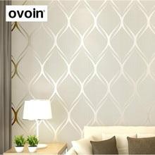 בז , לבן, אפור יוקרה מודרני טפט לחדר שינה קירות כיסוי סלון טפטים רול גיאומטרי קיר נייר עיצוב בית