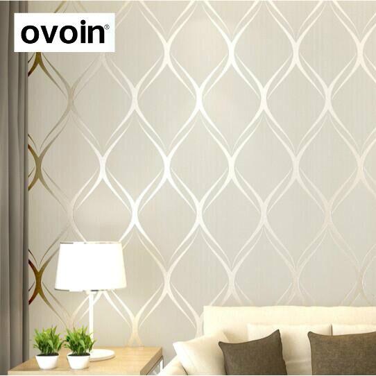 US $16.64 48% OFF|Beige, Weiß, grau Luxus Moderne Tapete Für Schlafzimmer  Wände Abdeckt Wohnzimmer Tapeten Rolle Geometrische Wand Papier ...