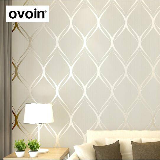 Beige, Weiß, grau Luxus Moderne Tapete Für Schlafzimmer Wände ...