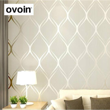 Papel de pared moderno de lujo Beige, blanco, gris para dormitorio Paredes cubiertas papel de pared rollo de papel de pared geométrico decoración del hogar