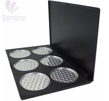 Wholesale 6 Piece Big Empty Eyeshadow Palette with 63mm PAN NEW for Eye Shadow Blush Powder cosmetics DIY beauty kits