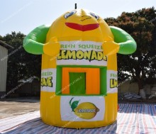 Free Shipping Smiling Face Inflatable Lemonade Booth Kiosk for Sale(Free banners and CE or UL certificated Blower) цена 2017